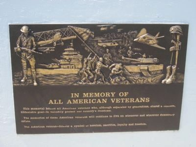 In Memory of All American Veterans Marker image. Click for full size.