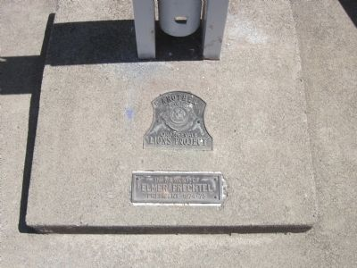 Plaques Mounted at the Base of the Flag Pole image. Click for full size.