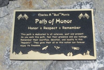 Path of Honor Marker image. Click for full size.