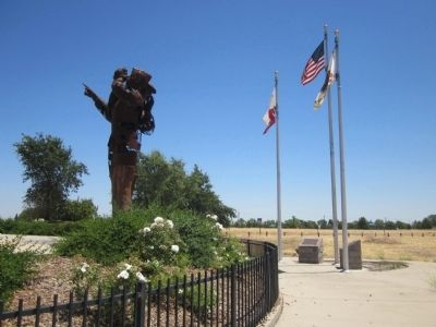 Mather Air Force Base Navigators Monument Markers image. Click for full size.