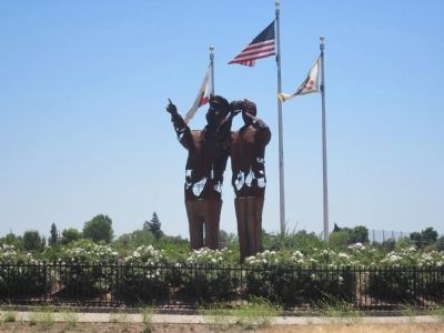 Mather Air Force Base Navigators Monument image. Click for full size.