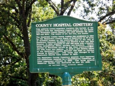 County Hospital Cemetery Marker image. Click for full size.