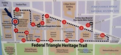 Federal Triangle Heritage Trail map image. Click for full size.