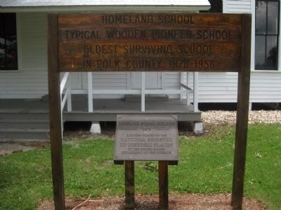 Homeland School Marker image. Click for full size.