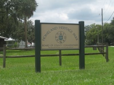 Sign for Homeland Heritage Park image. Click for full size.