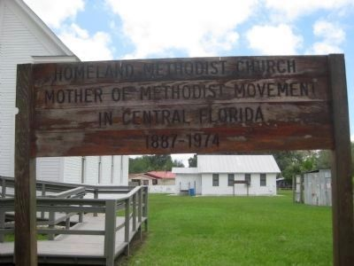 Park sign for Homeland Methodist Church image. Click for full size.