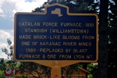 Catalan Forge Furnace - 1881 Marker image. Click for full size.
