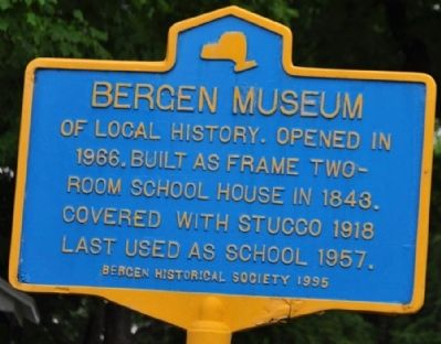Bergen Museum Marker image. Click for full size.