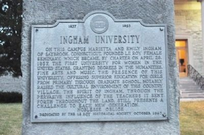 Ingham University Marker image. Click for full size.
