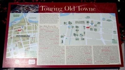 Touring Old Towne Marker image. Click for full size.