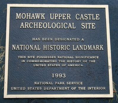 Mohawk Upper Castle Marker image. Click for full size.