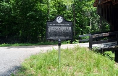 Red Oak Creek Covered Bridge Marker image. Click for full size.