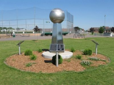 Youth Baseball Donor Recognition Monument and Marker image. Click for full size.