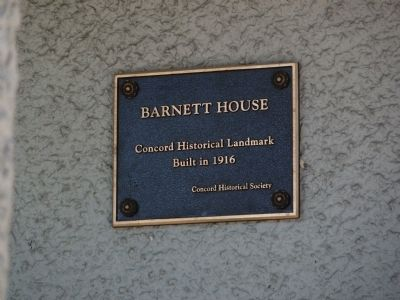 Barnett House Marker image. Click for full size.