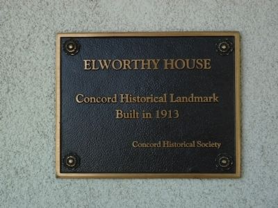 Elworthy House Marker image. Click for full size.