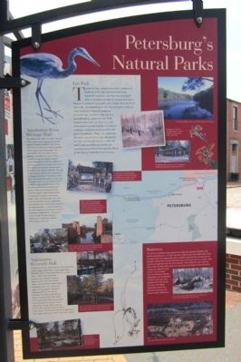 Petersburg's Natural Parks Marker image. Click for full size.