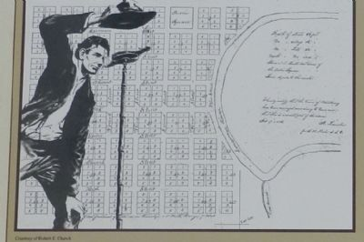 Lincoln's plat of Petersburg image. Click for full size.