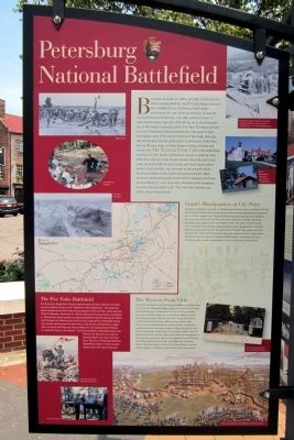 Petersburg National Battlefield Marker image. Click for full size.