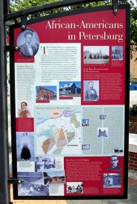 African-Americans in Petersburg Marker image. Click for full size.