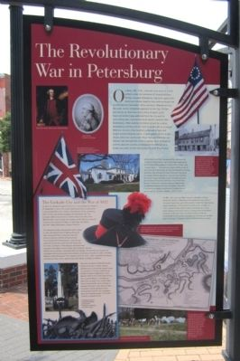 The Revolutionary War in Petersburg Marker image. Click for full size.