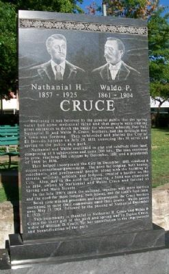 Nathaniel H. and Waldo P. Cruce Marker image. Click for full size.