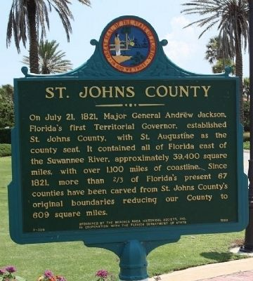 St. Johns County Marker image. Click for full size.