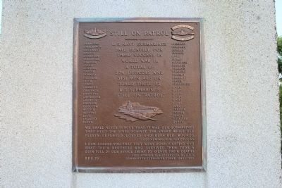 Still on Patrol Rear Plaque image. Click for full size.
