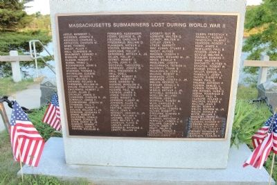 Massachusetts Submariners Lost During World War II image. Click for full size.