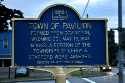 Town of Pavillion Marker image. Click for full size.