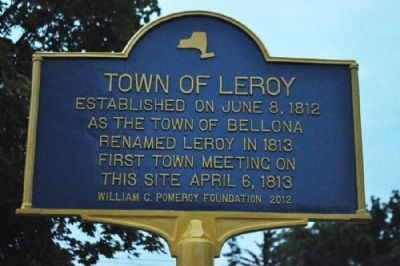 Town of LeRoy Marker image. Click for full size.