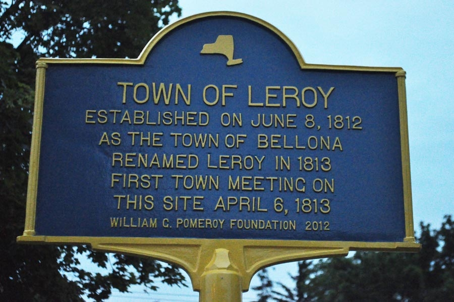 Town of LeRoy Marker