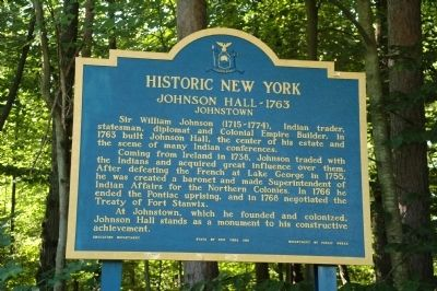 Johnson Hall - 1763 Marker image. Click for full size.