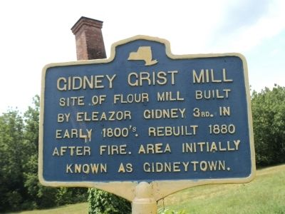 Gidney Grist Mill Marker image. Click for full size.