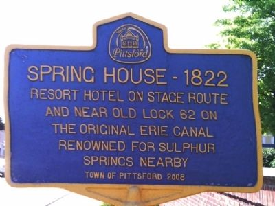 Spring House - 1822 Marker image. Click for full size.