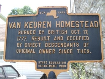Van Keuren Homestead Marker image. Click for full size.