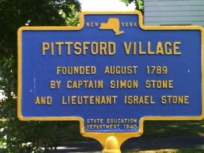 Pittsford Village Marker image. Click for full size.
