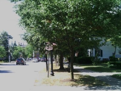 Pittsford Village Marker as seen facing South on n. Main image. Click for full size.