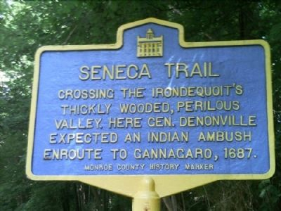 Seneca Trail Marker image. Click for full size.