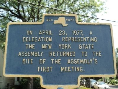 New York State Assembly Marker image. Click for full size.