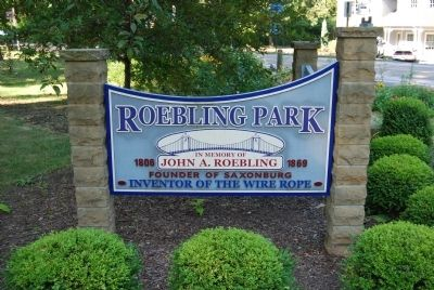 Roebling Park sign image. Click for full size.