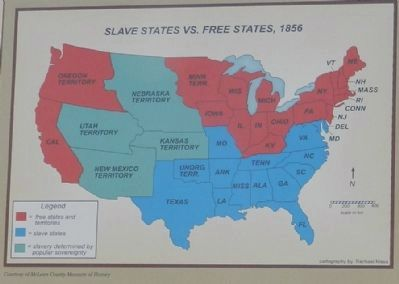 Map of Free and Slave States image. Click for full size.