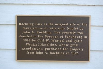 Roebling Park plaque image. Click for full size.