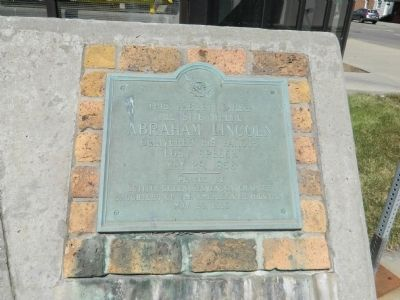 The Site where Abraham Lincoln delivered his famous Lost Speech Plaque 5 image. Click for full size.
