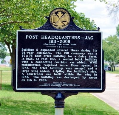 Post Headquarters -- JAG Marker, Side 2 image. Click for full size.