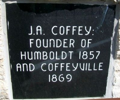 J. A. Coffey Marker image. Click for full size.