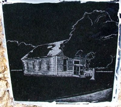 German Evangelical Church Drawing on Marker image. Click for full size.