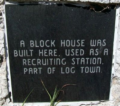 Block House Recruiting Station Marker image. Click for full size.