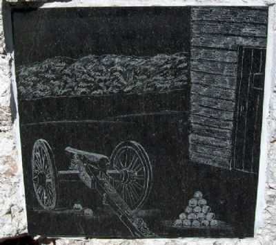 Drawing on Block House Marker image. Click for full size.