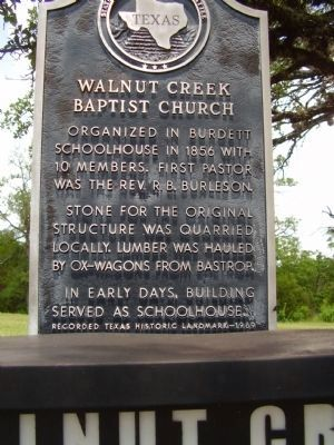 Walnut Creek Baptist Church Marker image. Click for full size.