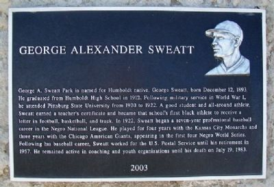 George Alexander Sweatt Marker image. Click for full size.